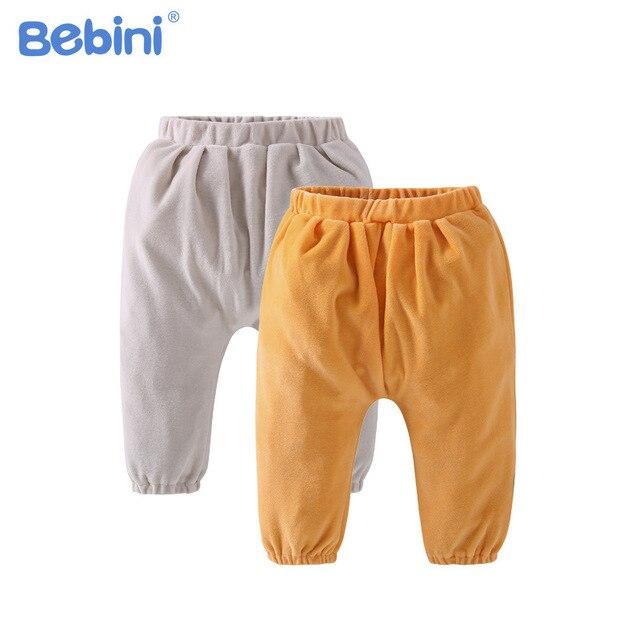 822b3f334 Bebini bebé niños y niñas Pantalones suaves del bebé recién nacido Niño  bebés leggings moderna ropa
