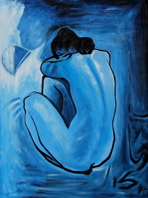 Famous Reproductions oil paintings Blue Nude Picasso wall art home ...