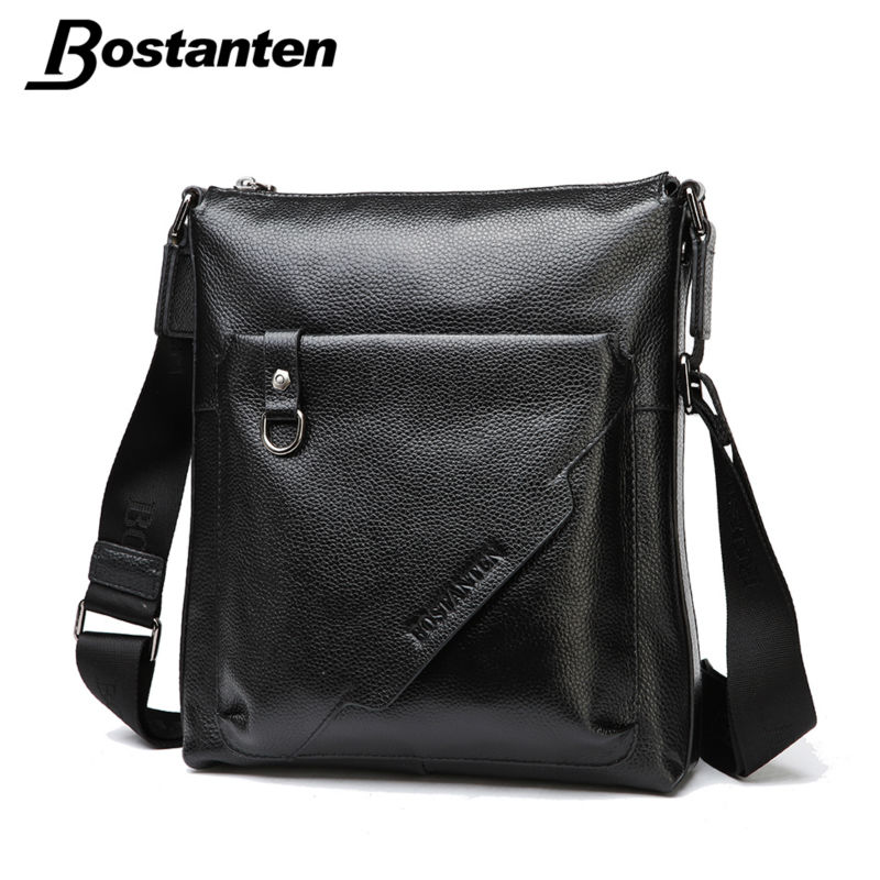 Bostanten Vintage Fashion Men Messenger Bags Genuine Leather Casual Male Shoulder Bag Crossbody Bags Men s