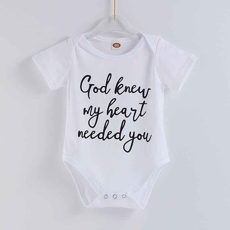 Летнее Детское Боди, одежда для мальчиков и девочек, белые комбинезоны с надписью «I Love You To The Letter» для новорожденных, милая одежда, боди для детей от 0 до 18 месяцев