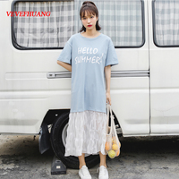 Summer Women dress Short Sleeve Print I Know Day Just Like Don\'t Come Back Dresses Pink Blue Yellow L0849