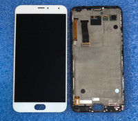 Axisinternational For 5.5'' Meizu MX5 MX 5 LCD screen Display with frame+Touch panel Digitizer for meizu MX5 mx5 display +tools
