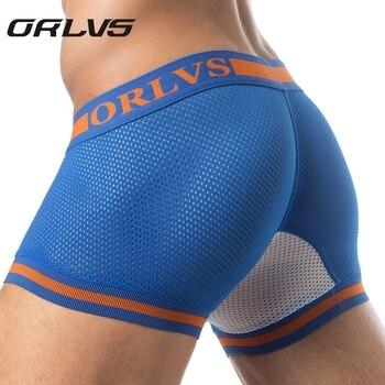 Best Selling Brand New Mesh U Pouch Boxer Men Underwear Sexy Underpants Cueca Cotton Pants Trunks shorts Male Panties - discount item  35% OFF Men's Underwears