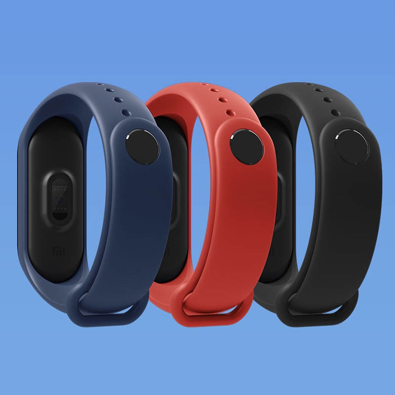 Original Xiao mi mi bracelet 3 bracelet intelligent Fitness mi bande 3 grand écran tactile OLED Message fréquence cardiaque temps Smartband - 3