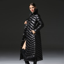 2016 Top Quality Brand Ladies Winter Women Lengthen Down Parka 90% White Duck Down Warm Coat With Bag ladies' Jackets 65348