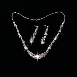 2016 Женская Одежда для танцев комплект ювелирных изделий для танцев (головной убор/цепочки и ожерелья + серьги) Diamond набор ювелирных изделий