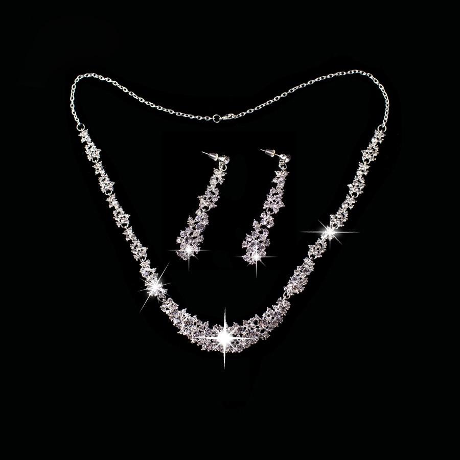 Necklace + Earrings)  Diamond Jewelries