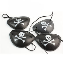 Pirate Eye Patch Halloween Masquerade Pirate Accessories Cyclops Eye Patch Lazy Eye Amblyopia Skull Eye Patch(China)