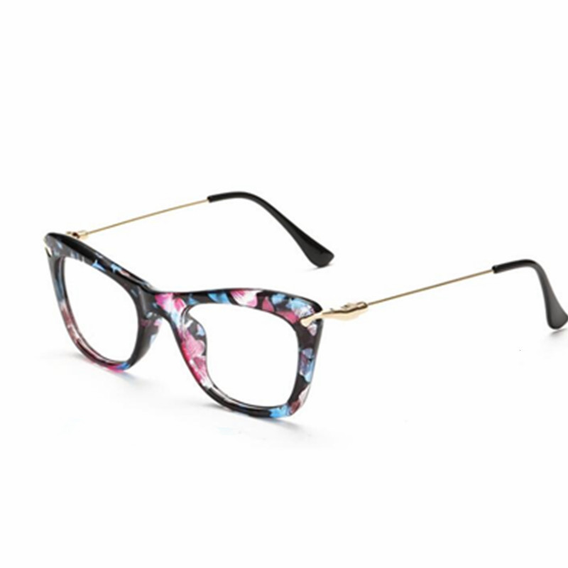 4fe6b35492fc fashion TR90 Women's Floral Glasses Frame Optical Frame Eyeglasses Clear  Prescription Eyewear Oculos de Grau High Quality-in Eyewear Frames from  Apparel ...