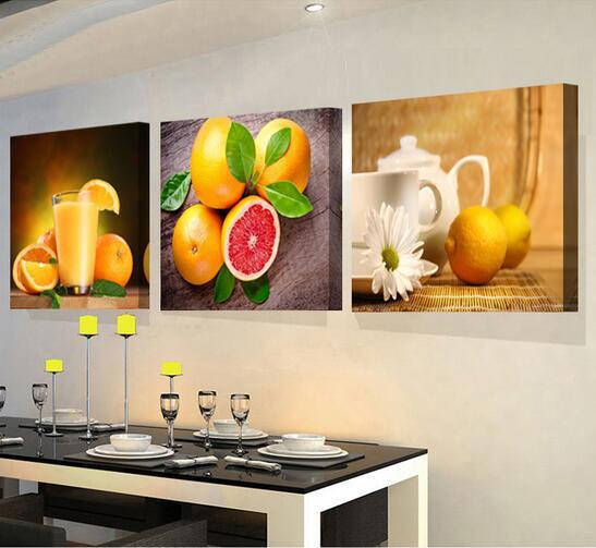 3 Panel Leinwand Küche Obst kunst wandbild für wohnzimmer Bilder ...
