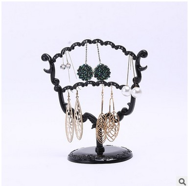 Cup earring display black Jewelry display shelf earring holder