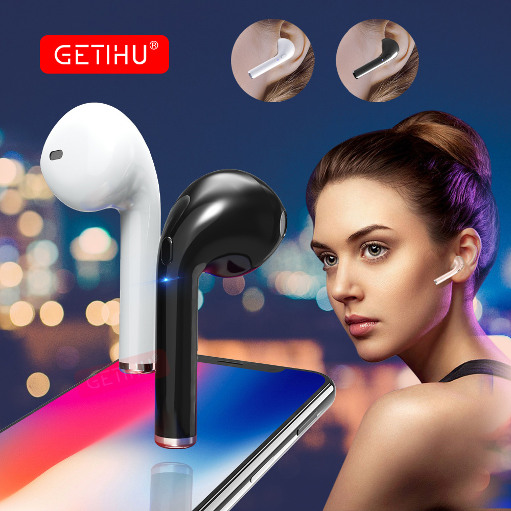GETIHU Bluetooth Earphone Sport Phone Headset in Ear Buds Wireless Headphones Mini Earphones Earpiece For iPhone Samsung stereo