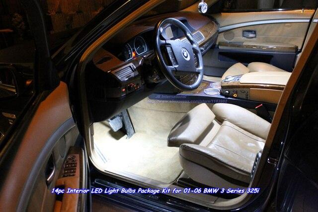 Amazing Aftermarket LED Car White 8000k Interior Lights For BMW 3 Series 325i  01 06,Canbus T10u0026Festoon LED Light Bar