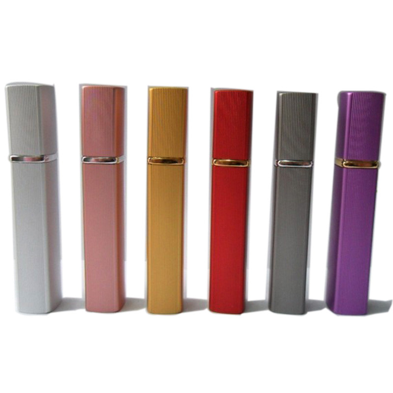 Image 2 - 10x12ML Mini Portable rotary spray bottle anodized aluminum perfume bottles glass perfume bottles makeup perfume bottling tube-in Refillable Bottles from Beauty & Health