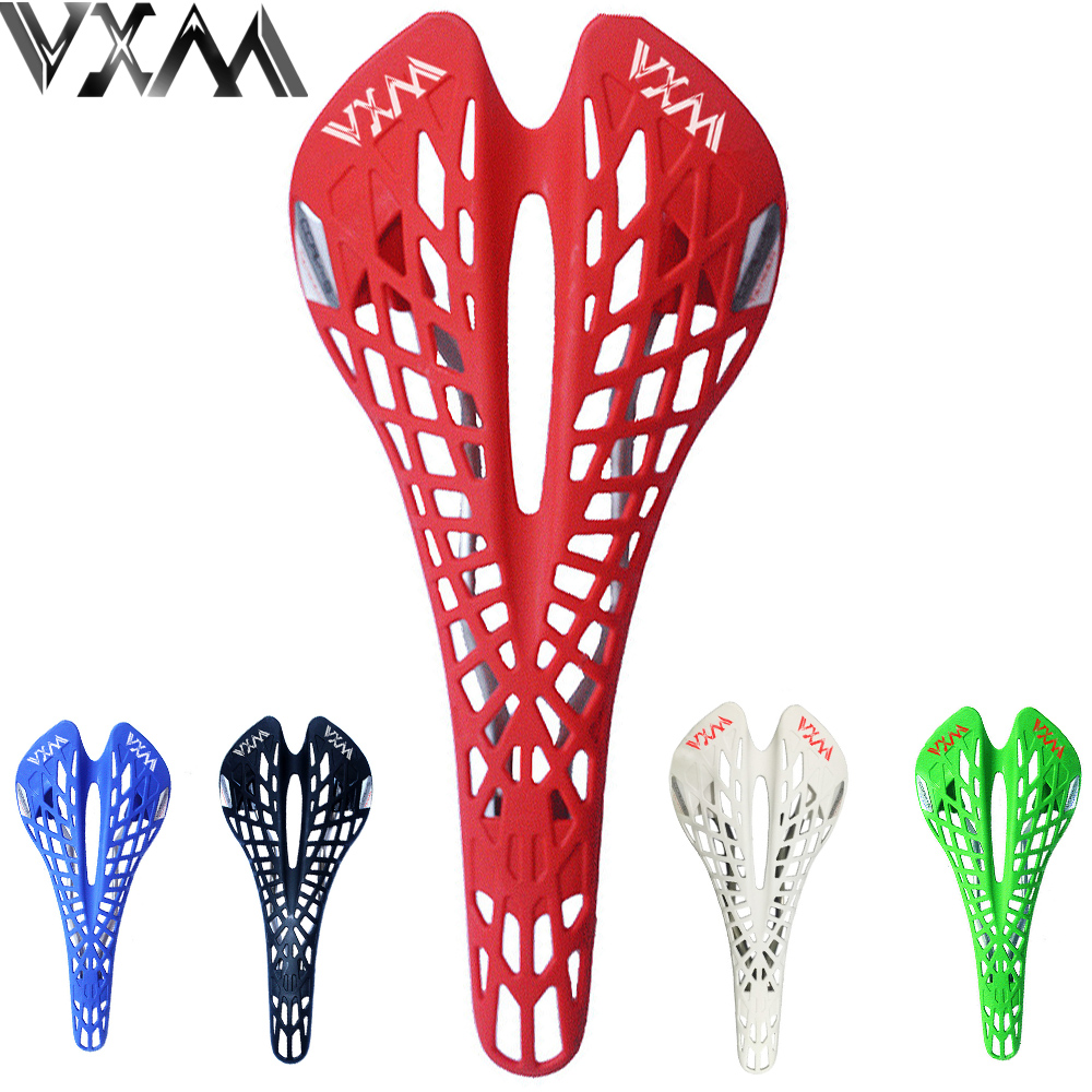 VXM Bicycle saddle Road Bicycle Mountain bike saddle Cycling Breathable Spider Ergonomic Hollow Front seat Mat Bicycle parts