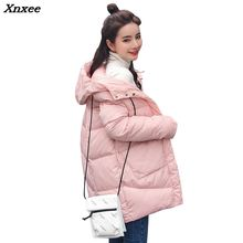 Thick Warm Hooded Long Down Parkas Women Down Jacket Winter Coat Cotton Padded Jacket Woman Winter Jacket Coat Female New 2018 цена