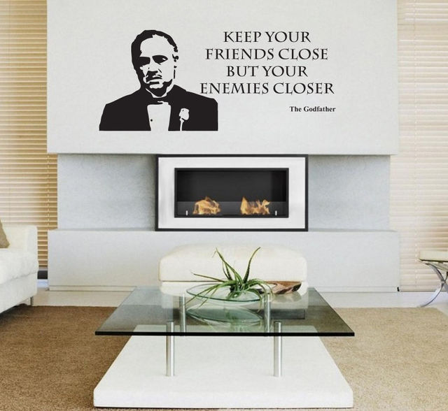 3d poster the godfather film movie wall sticker decal vinyl wall art