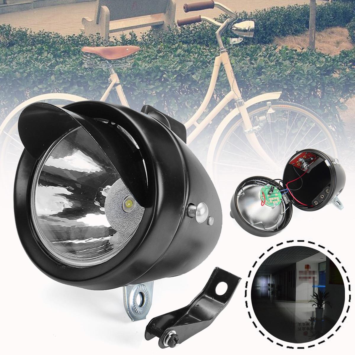Retro Bicycle Bike LED Front Light Headlight Vintage Flashlight Lamp 3 AAA