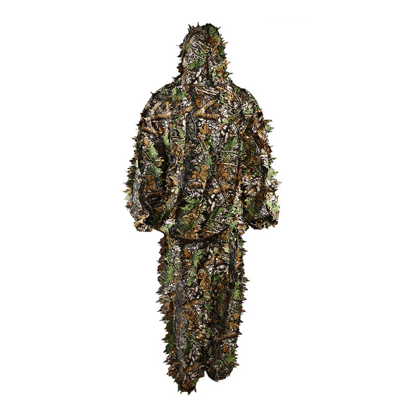 Woodland Sniper Ghillie Bionic Suit Kit 3D Leaf Yowie Ghillie Camouflage Suit For Hunting Birding Outdoor Coveralls bionic ghillie suits maple leaf camouflage hunting ghillie suits