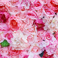 2018 SPR pink style Artificial rose wedding flower wall backdrop arch table runner centerpiece decorations flora 10pcs/lot