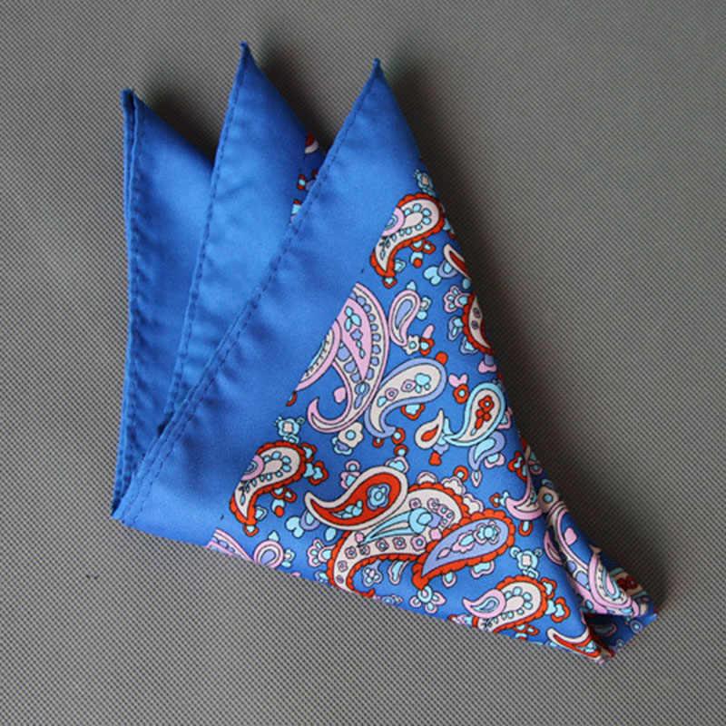 Ricnais новый дизайн 34 см * 34 см Шелковый Карманный квадратный Бизнес Мода Пейсли красный синий платок большой размер для мужчин свадебный подарок