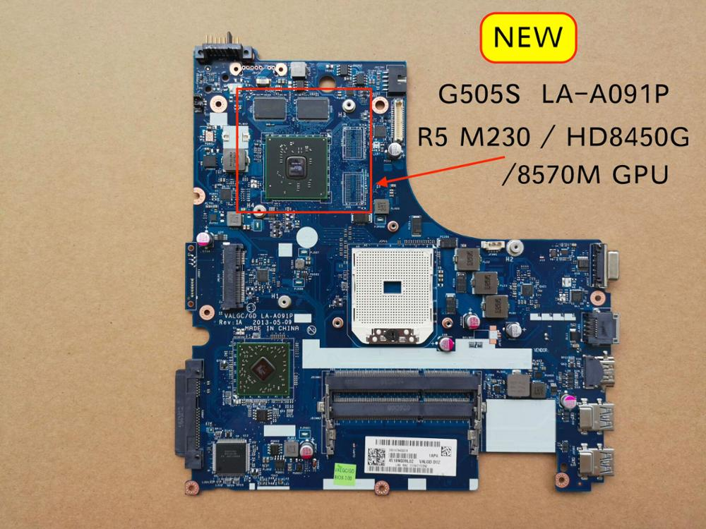 Free Shipping New LA-A091P G505s Motherboard For Lenovo G505S Laptop PC Mainboard With HD8450G HD8570M R5 M230