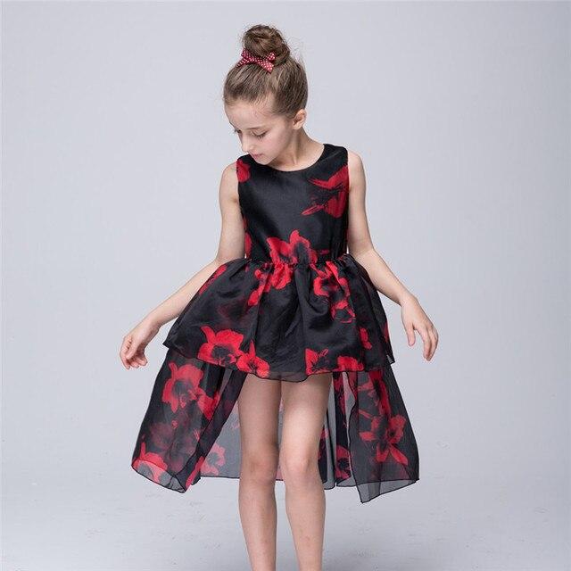 5ba9d005e Formal Evening Gown Print Wedding Princess Dress Children Clothing ...