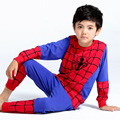 2016 Meninos Pijamas Crianças Set Crianças Pijamas Conjuntos de Roupas Infantis Pijama Bebê 2-9 Anos Dos Desenhos Animados Pijama Enfant Pijamas homem aranha