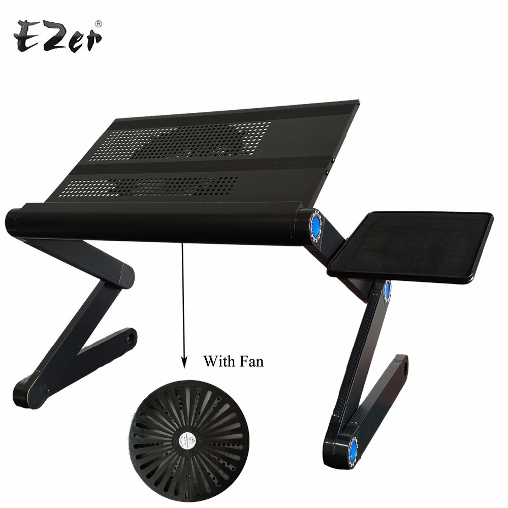 Adjustable Portable Laptop Table Stand Lap Sofa Bed Tray Computer Notebook  Desk Bed Table With Mouse Table ZW CD10-in Computer Desks From Furniture On