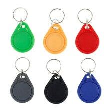 100 stücke RFID keyfobs 13,56 mhz schlüsselanhänger NFC tags ISO14443A MF Klassische® 1 karat nfc access control token smart keycard sechs farben