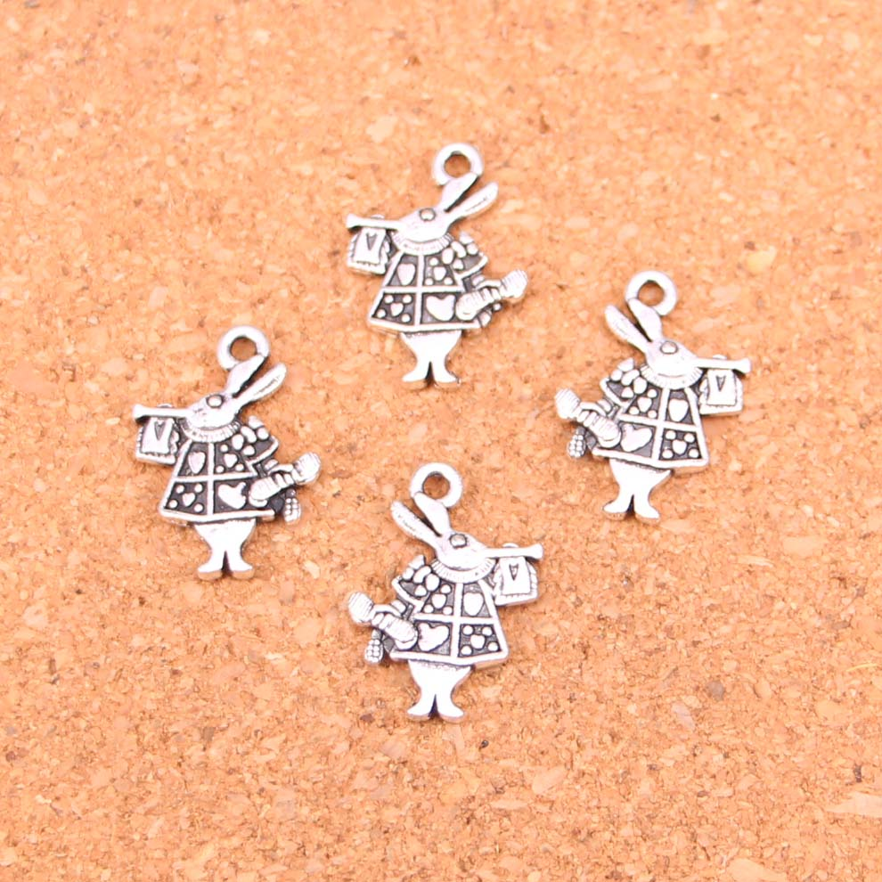 Devoted 86pcs Antique Silver Plated Trumpet Rabbit Charms Diy Handmade Jewelry Findings Accessories 21*15mm