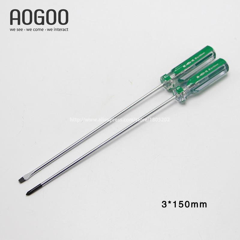 3*150mm 2Pcs/Lot Long And Hardness Screwdriver Tools Cross & Slotted Professional Industrial Tools