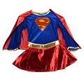 Supergirl niño chica Sexy traje de superhéroe cosplay del partido de super girl traje CO35112120