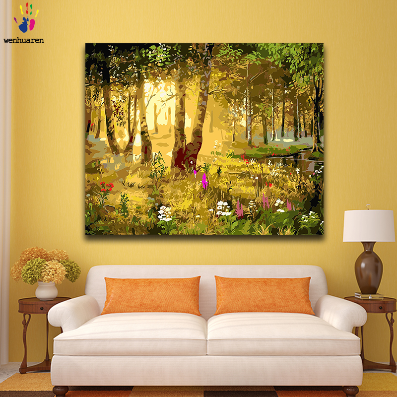 Paint By Number Art Painting By Numbers Landscape Forest