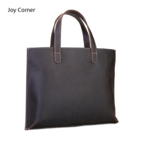 Joy Corner Portable Genuine Leather Document Bag Office Document File Paper Document Folder Bolsa Documentos Organizador