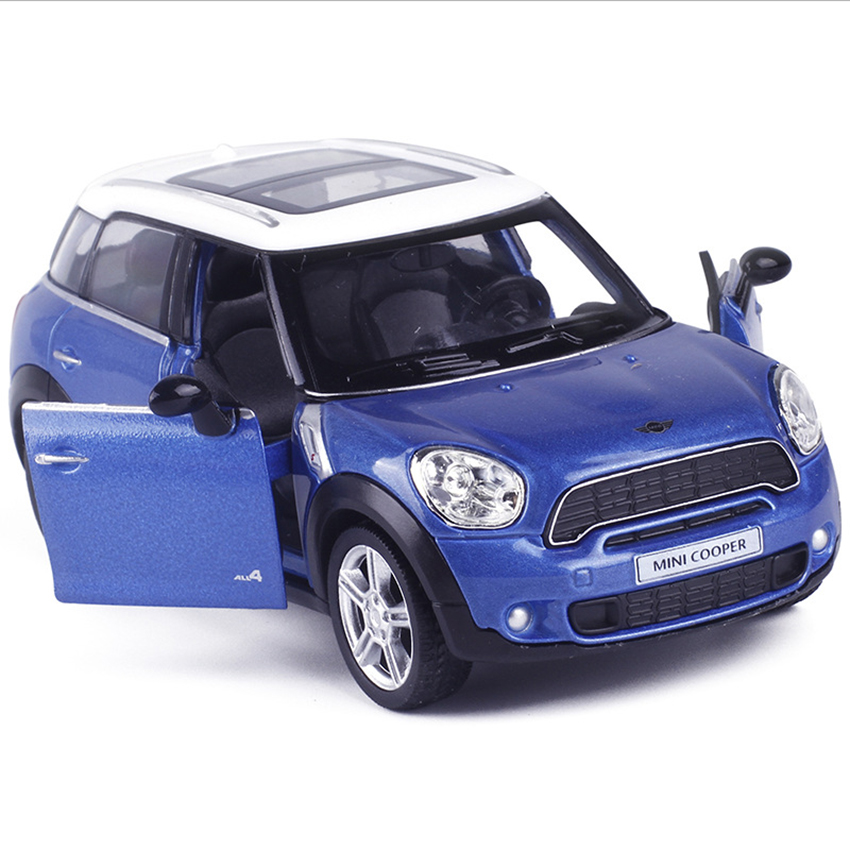 R Mini Countryman Cooper 1:36 Toy Vehicles Alloy Pull Back Car Replica Authorized Original Factory Model Toys Kids Gift