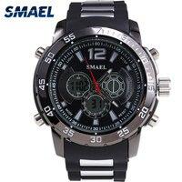 Men S Digital Sport Watches SMAEL Brand Fashion Casual Male Clock Dual Display Wristwatchwes Hot Electronics