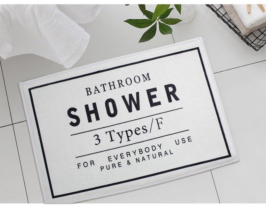 Soffe Mordern Style Outdoor Door mat 60 40cm Originality Shaggy Water Absorption Bathroom Mats Non slip