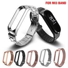 Wrist Band For Xiaomi Mi 3 Band Steel Metal Material Fashion Style Smart Bracelet Bracelet Wristband Sport Waterproof Outdoor