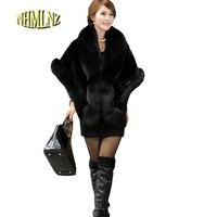 Europa novo estilo de moda feminina qiu dong casaco capa de pele de imitação xales manto manto casaco de pele de vison casaco de pele de coelho cabelo G1689
