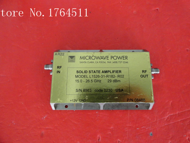 [BELLA] MICROWAVE POWER L1526-31-R182-R02 15.0-26.5GHz Amplifier