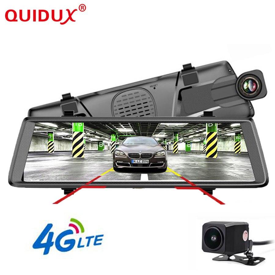 QUIDUX 10 ''ADAS Stream médias rétroviseur Auto enregistrateur 4G Android Smart Dash caméra FHD 1080 P enregistreur GPS navigation