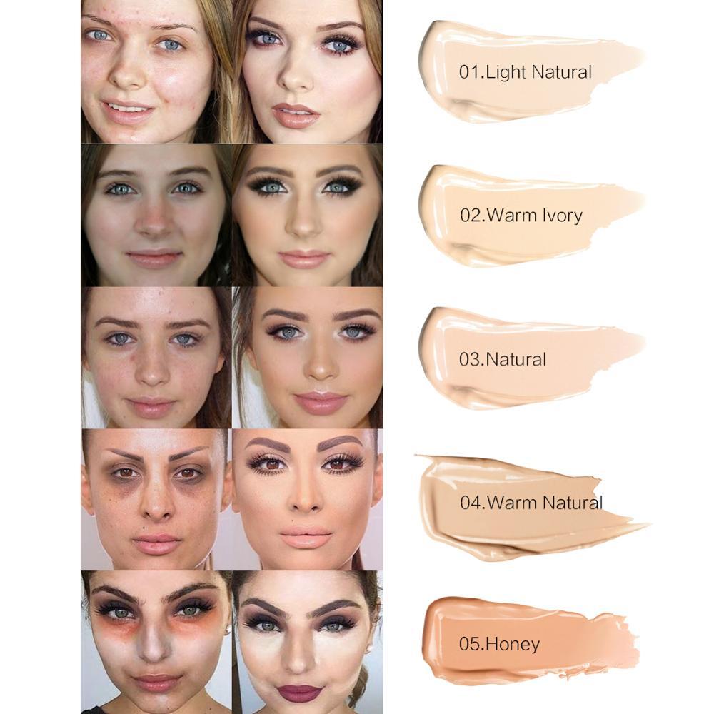 SACE LADY Full Cover 5 Colors Liquid Concealer Makeup 6ml Eye Dark Circles  Cream Face Corrector