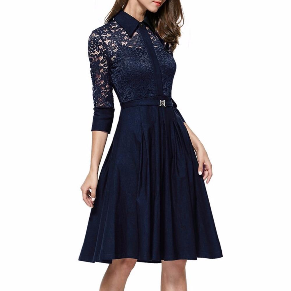 Beautiful Pattern And Pleated Flare Dress Womens Lace Dress Patterns View Lace