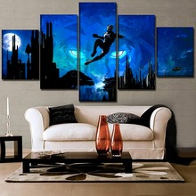Canvas Print Painting 5 Pieces Movie Abstract City Artistic Black Panther Modular Picture Home Decor One Set Wall Art Poster