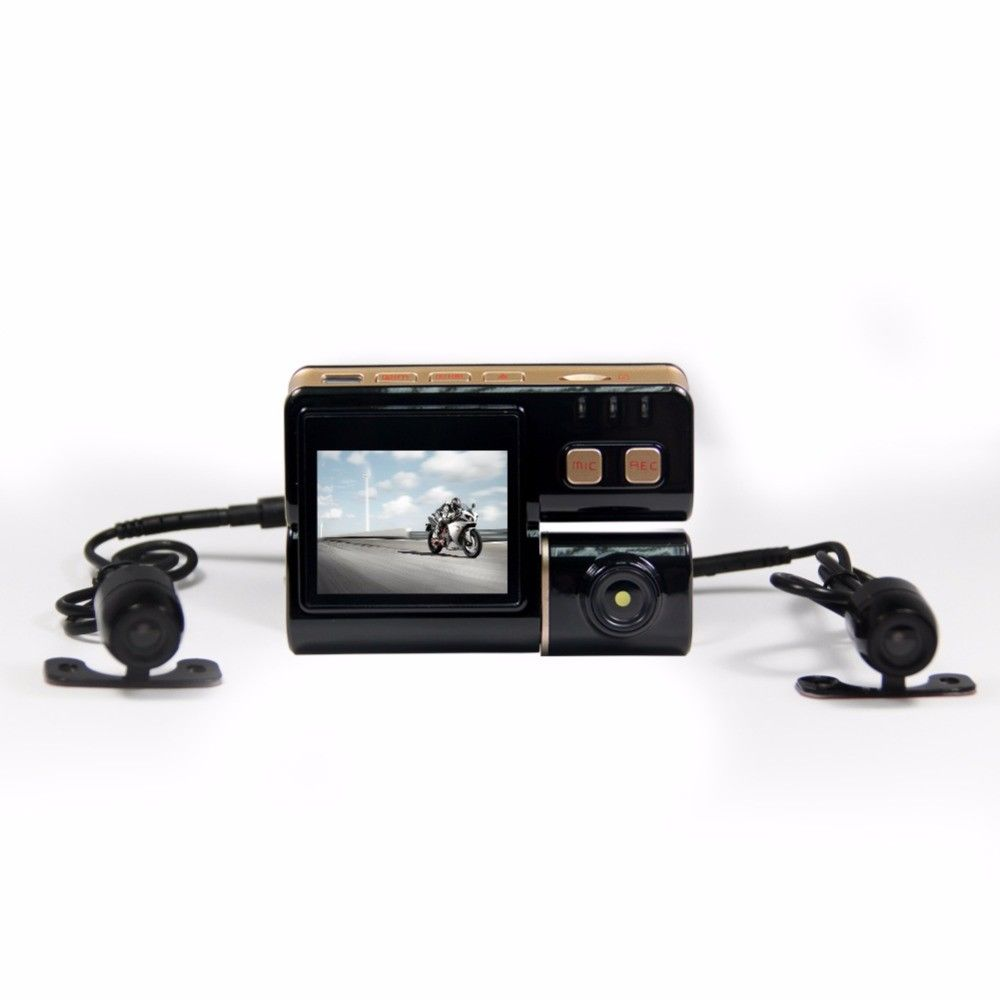 New Version Motorcycle Camera DVR with HD Video Camera Dual Dash Cam