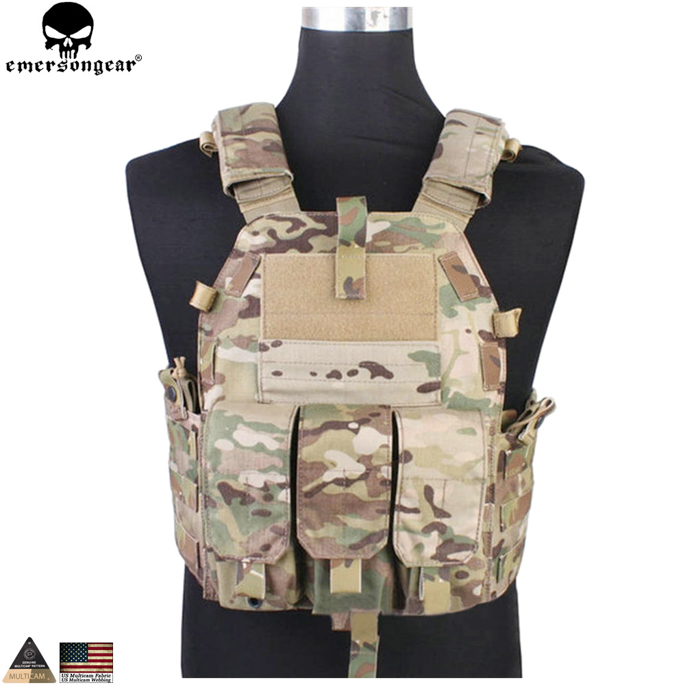 EMERSONGEAR Tactical Modular Vest With Airsoft 094K M4 Mag Pouch Combat CS Tactical Molle Plate Carrier