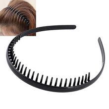 1 шт. мужская женская унисекс пластиковая черная зубчатая спортивная повязка для волос обруч для волнистых волос головная повязка Головные уборы Аксессуары для укладки волос