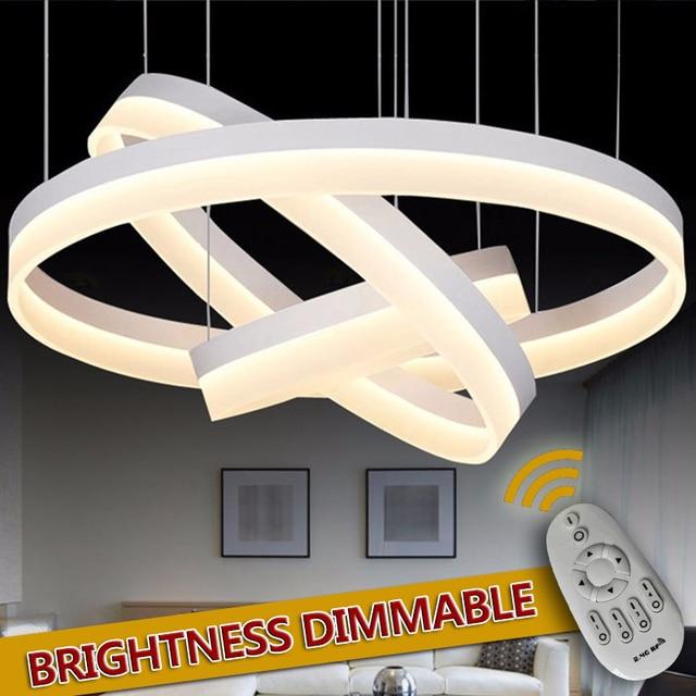 Led lámpara colgante luces 3 anillos para sala comedor cocina ...
