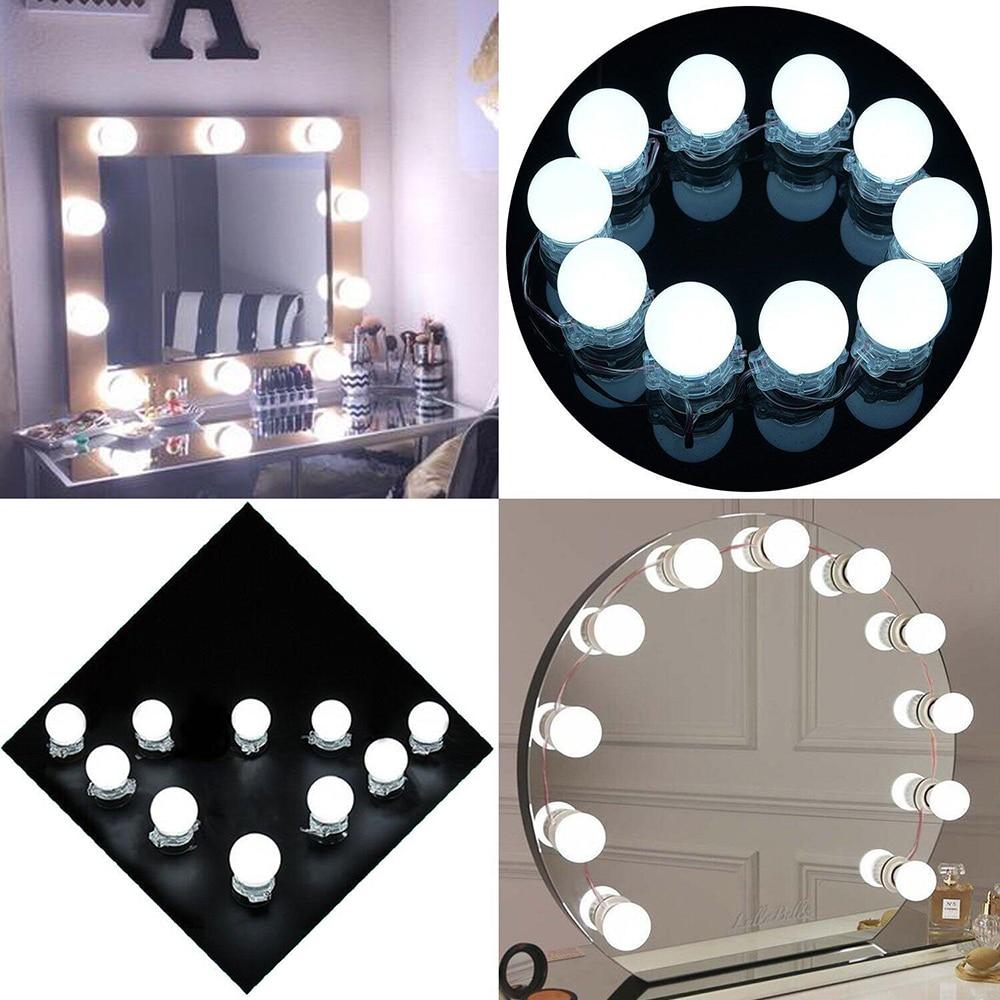Artpad сенсорный диммер Голливуд макияж зеркало огни легкий монтаж DC 12 В в макияж зеркало лампа для ванных и туалетных комнат макияж